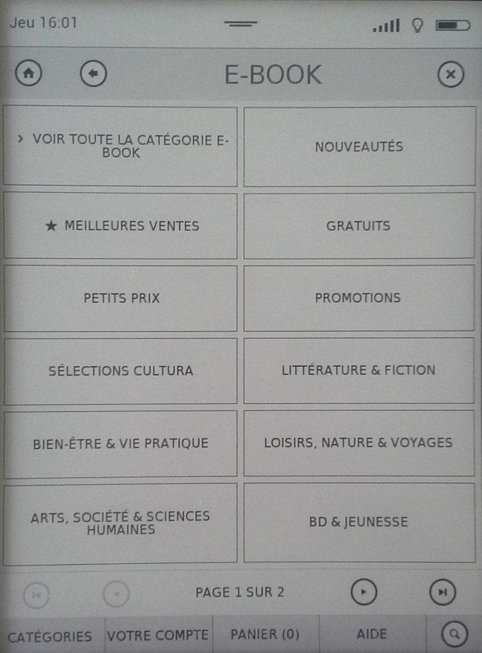 tea librairie cultura catégories
