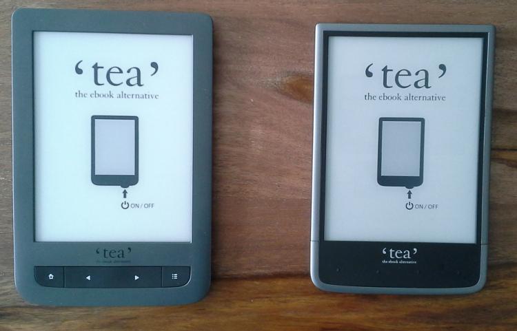 Comparaison liseuses Tea touch Lux 3 et Tea Ultra