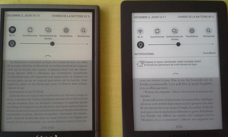 Comparaison écran tea ultra, touch lux 3