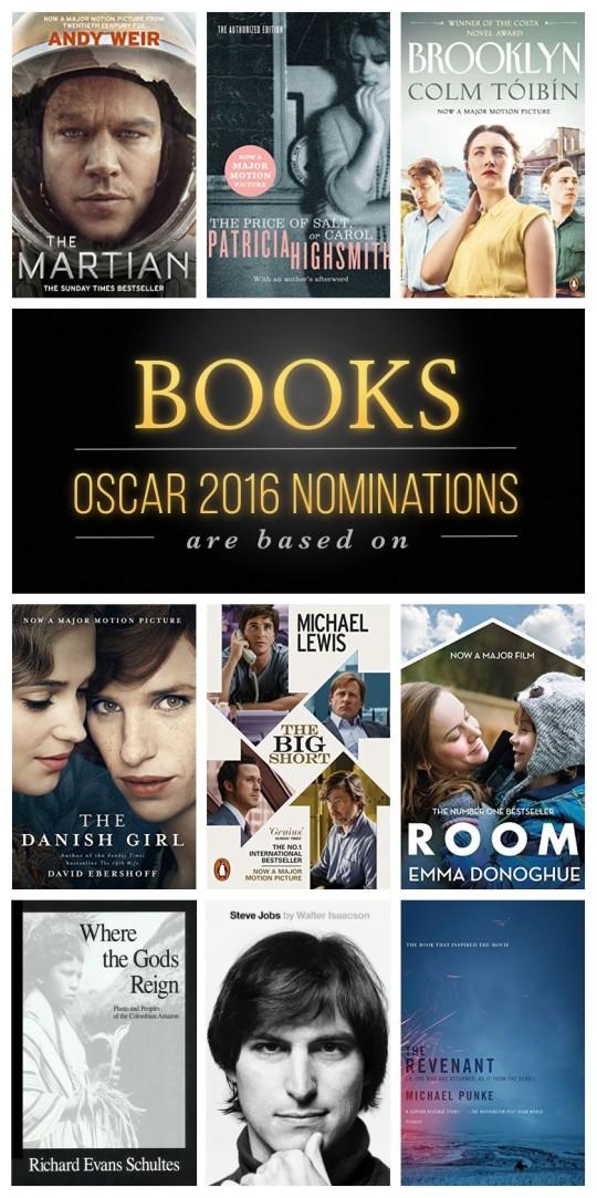 Films inspirés de livres pour les oscars 2016