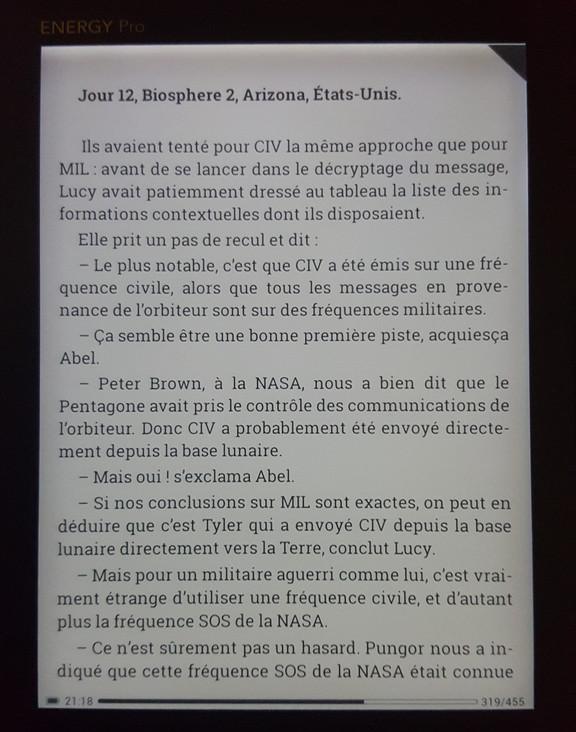 nergy sistem eReader Pro HD écran fbreader