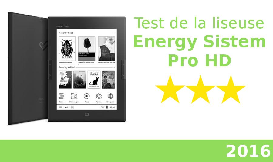 test de la liseuse Energy sistem ereader pro hd