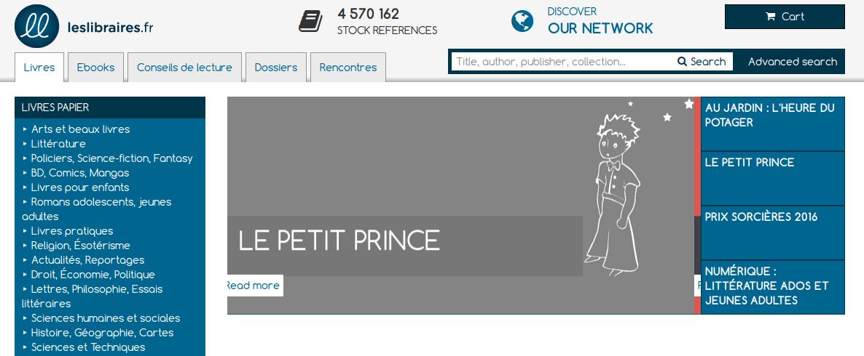 Site LesLibraires.fr