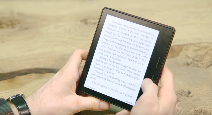 Kindle Oasis : bonne prise en main