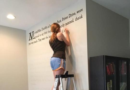 Harry Potter peint sur un mur