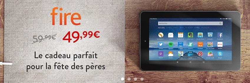 Promotion sur la tablette Fire d'Amazon