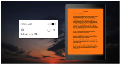 mode de lecture de nui sur Kobo Aura One liseuse