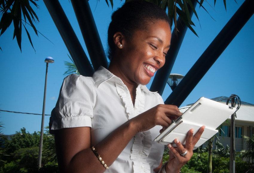 tablette ou liseuse sourire