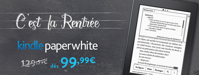 promotion Kindle Paperwhite