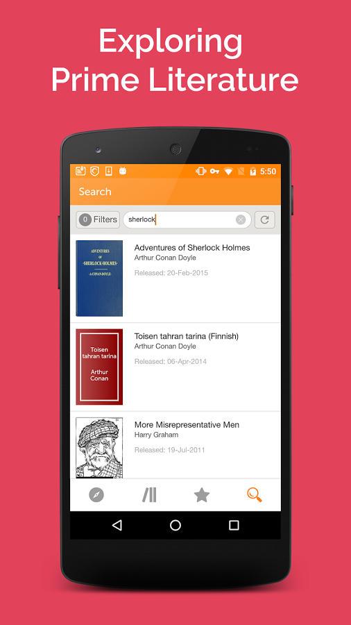 smartphone app project gutenberg livres gratuits