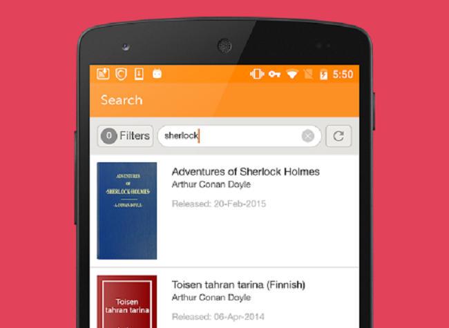 smartphone app project gutenberg free ebooks
