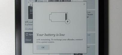 Kobo aura one problème de batterie