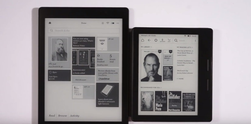 comparaison kobo aura one kindle oasis