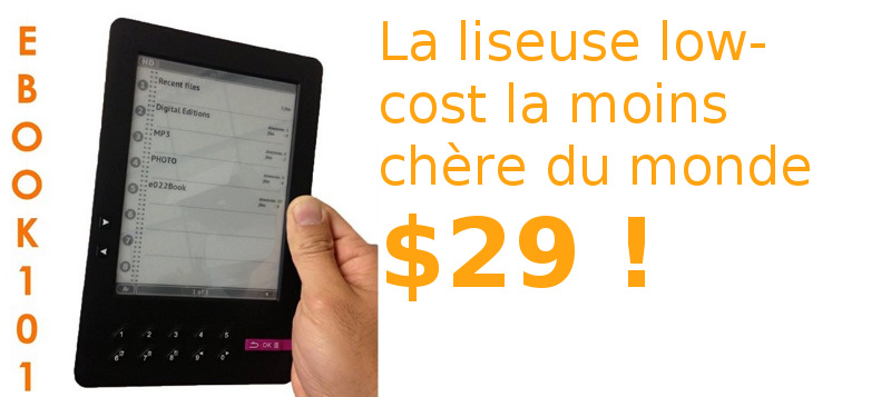 liseuse pas chère ebook101