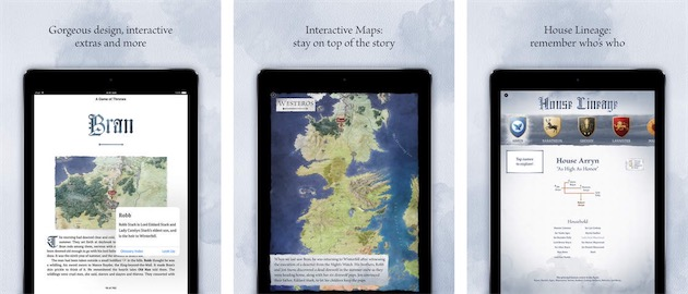 game of thrones enhanced ibooks