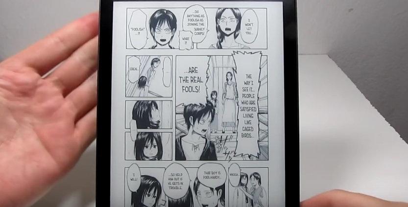 kobo aura one et lecture de bd, mangas, comics