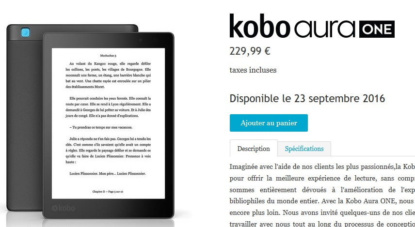 kobo aura one rupture de stock