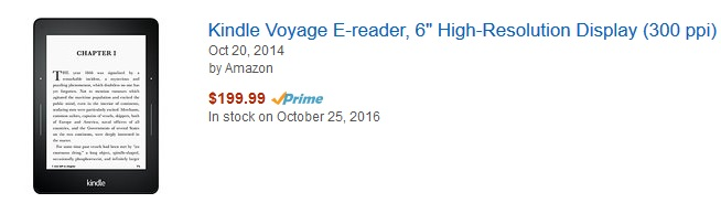 stock kindle voyage usa