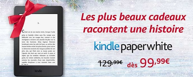 kindle paperwhite en promotion pour noel