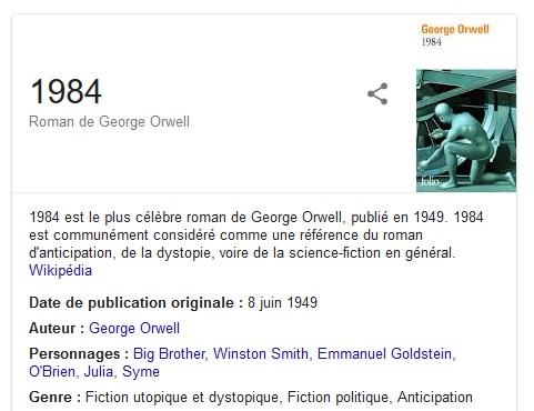 livre fiche Google 1984