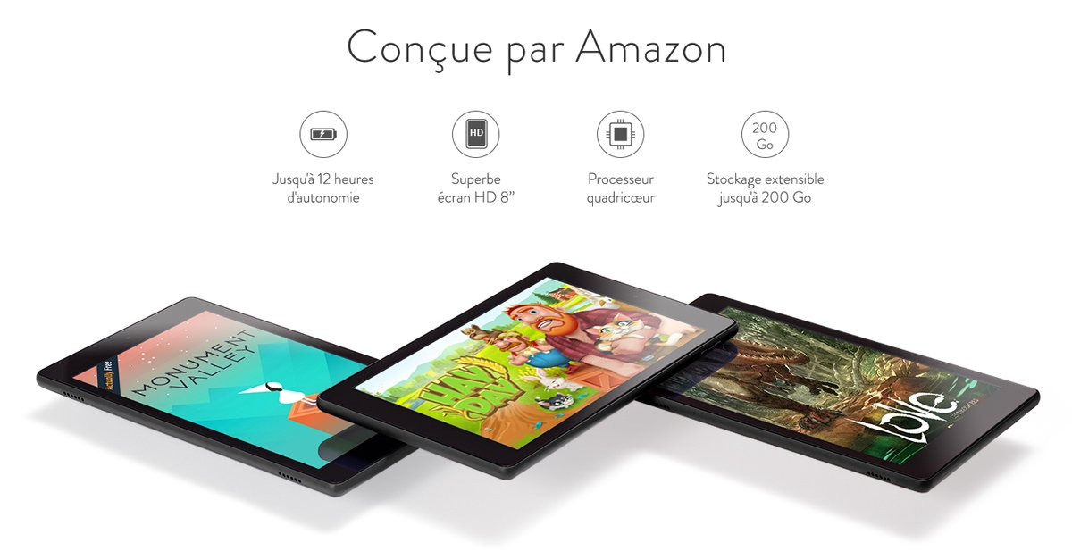 tablette fire HD8 Amazon