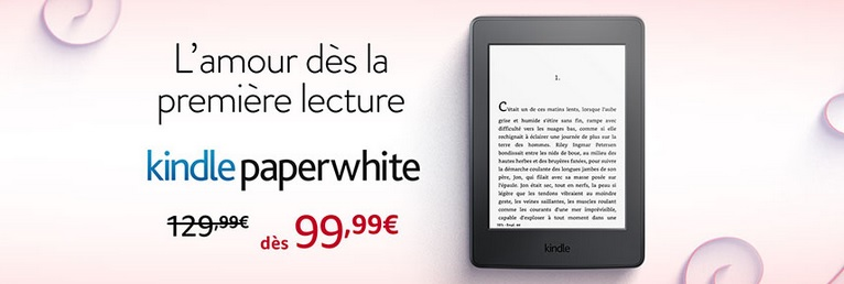 Kindle Paperwhite en réduction pour la saint valentin