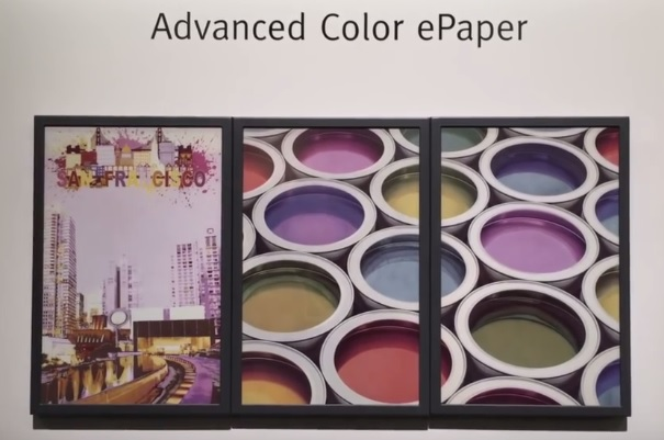 ACeP E Ink screen color (écran couleur)