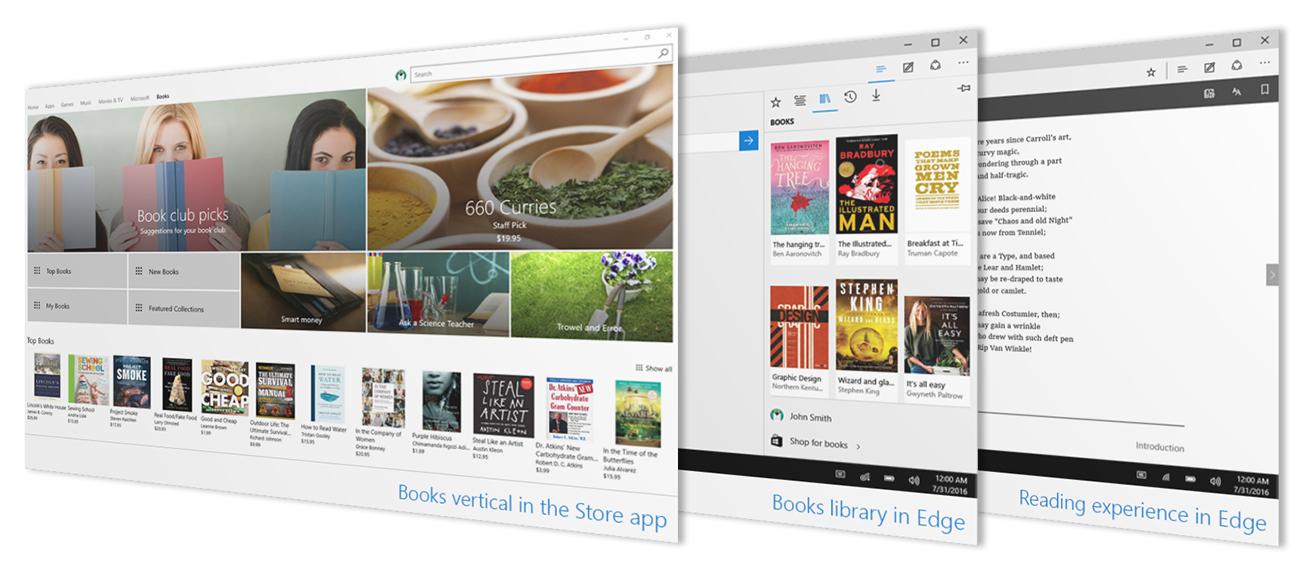 Windows 10 ebookstore livres numériques