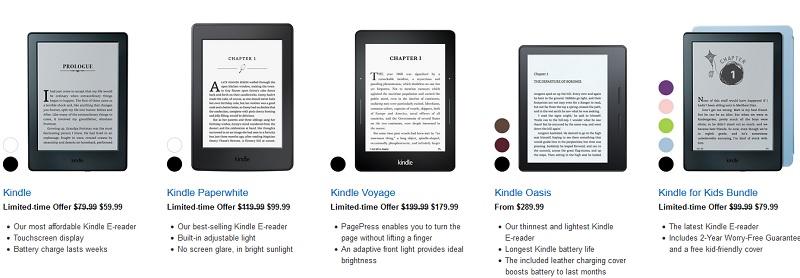 La Kindle Oasis est toujours disponibles aux USA