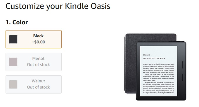 Kindle Oasis rupture de stock