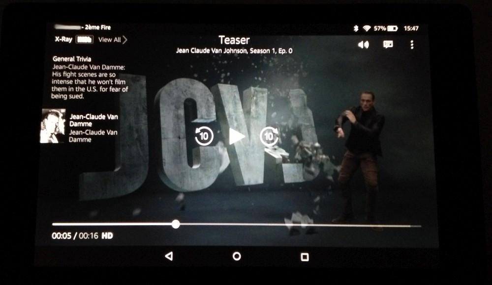 Une vidéo sur Fire HD 8