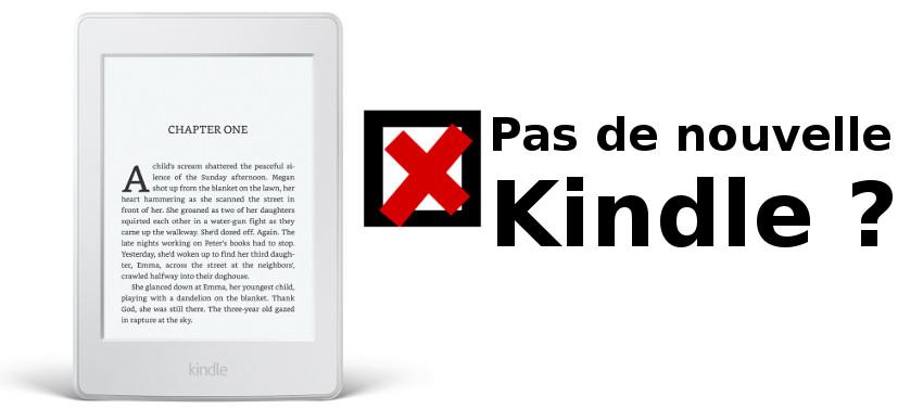 pas de nouvelle Kindle en 2017