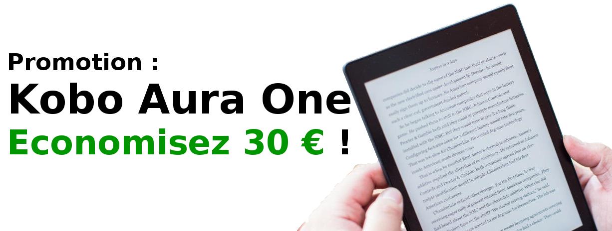 réduction de 30 euros sur Kobo Aura One