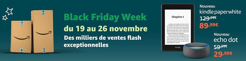 black friday week sur amazon