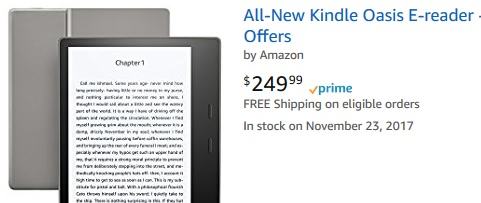 kindle oasis stock usa