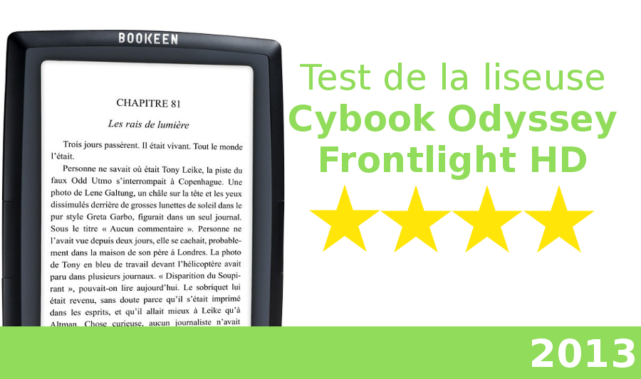 test liseuse cybook odyssey frontlight HD