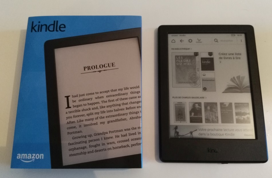 packaging liseuse kindle