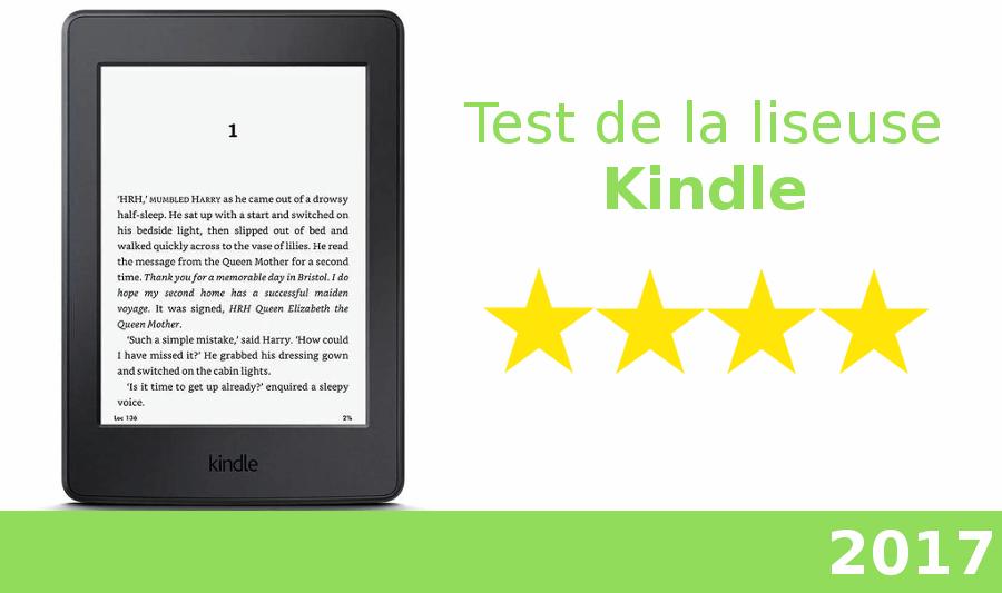 test de la liseuse Kindle 2017