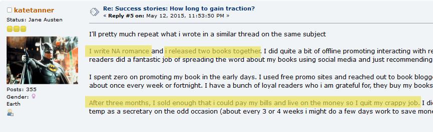 auteur qui vit de ses ebooks