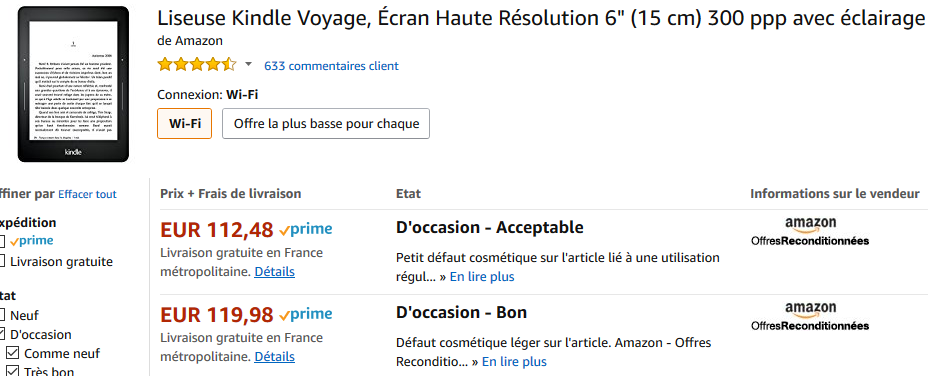 kindle voyage occasion