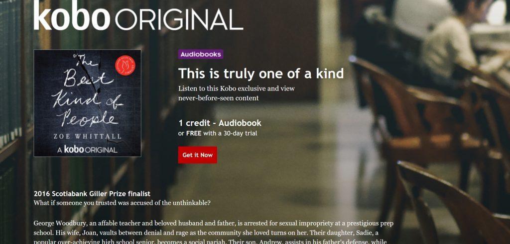 livre audio édité par Kobo