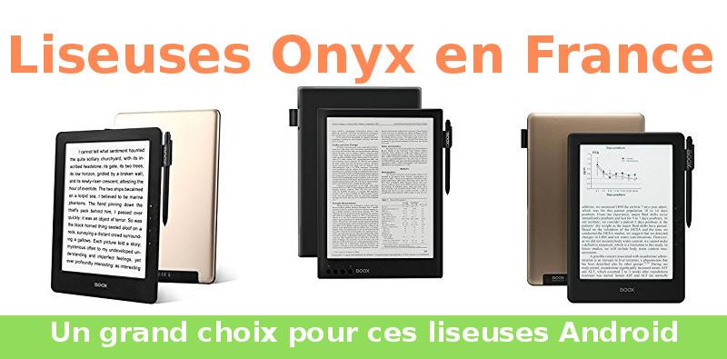 liseuses onyx en France