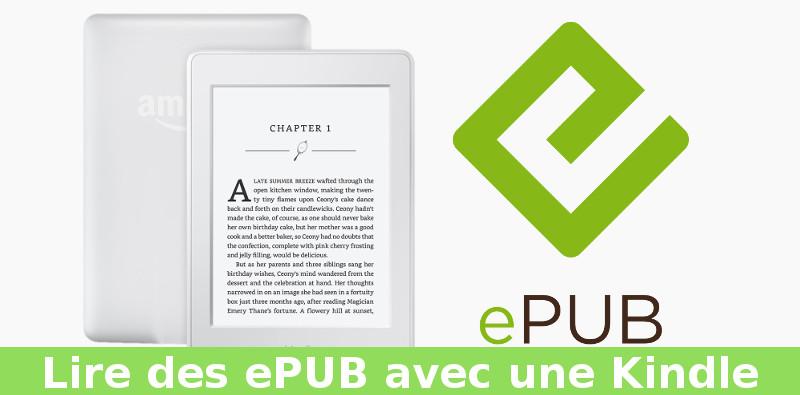 comment lire epub sur liseuse Kindle