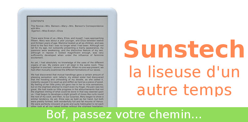 liseuse ebook sunstech