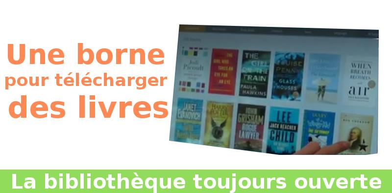 borne téléchargement livres ebooks