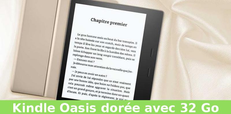 Kindle oasis dorée