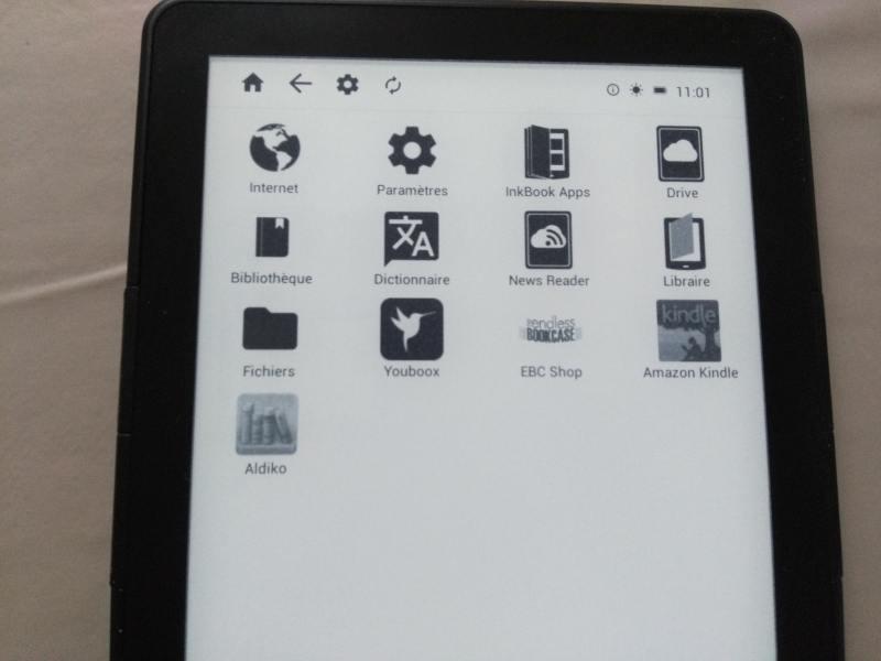 applications liseuse inkbook prime
