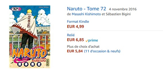 prix naruto amazon