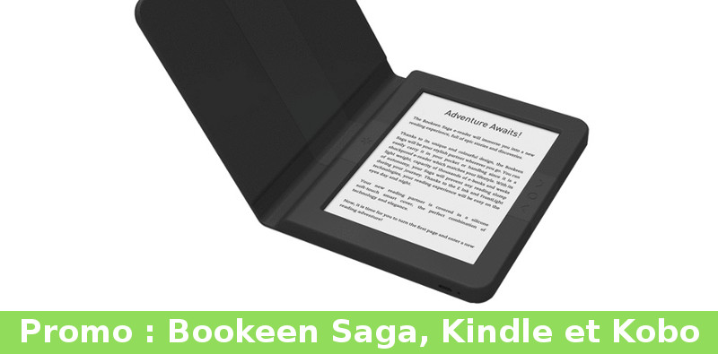 réduction sur liseuses Bookeen Saga, Kindle et Kobo