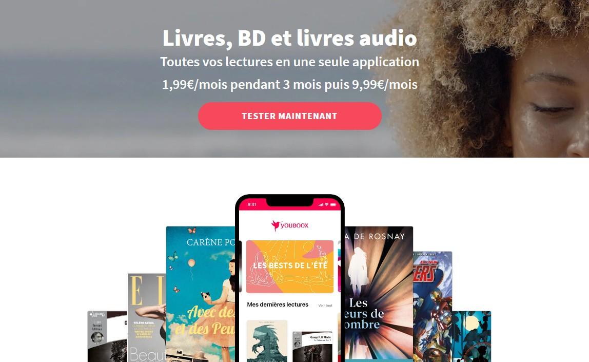 accueil du site youboox
